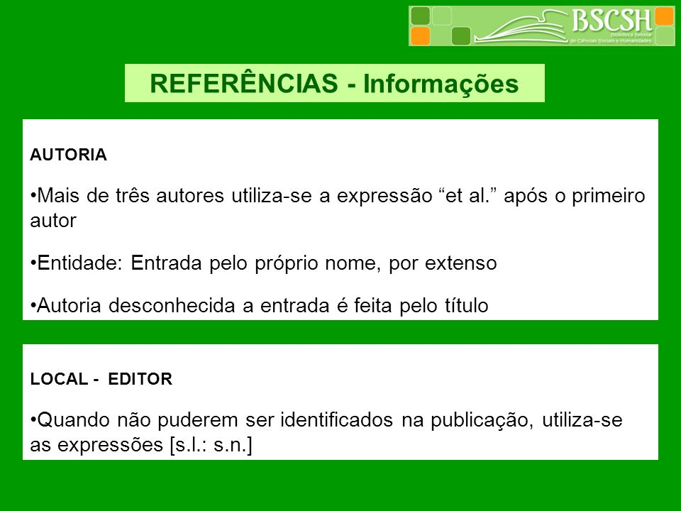 REFERÊNCIAS - Informações