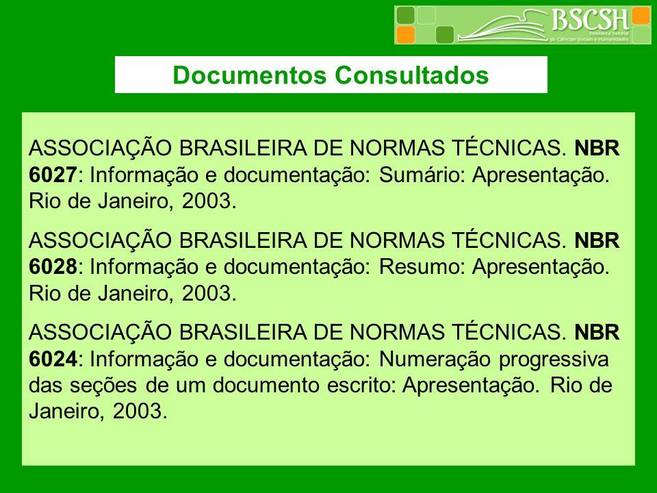 Documentos Consultados