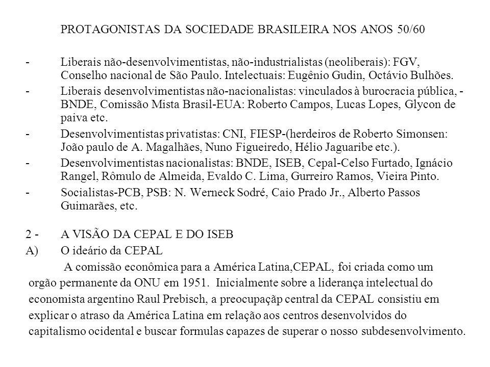 PROTAGONISTAS DA SOCIEDADE BRASILEIRA NOS ANOS 50/60