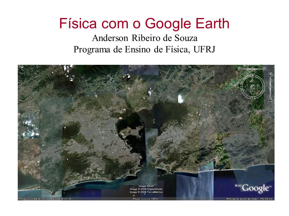 Física com o Google Earth