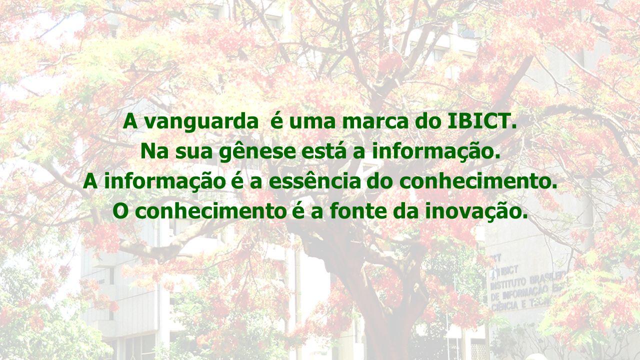 A vanguarda é uma marca do IBICT. Na sua gênese está a informação