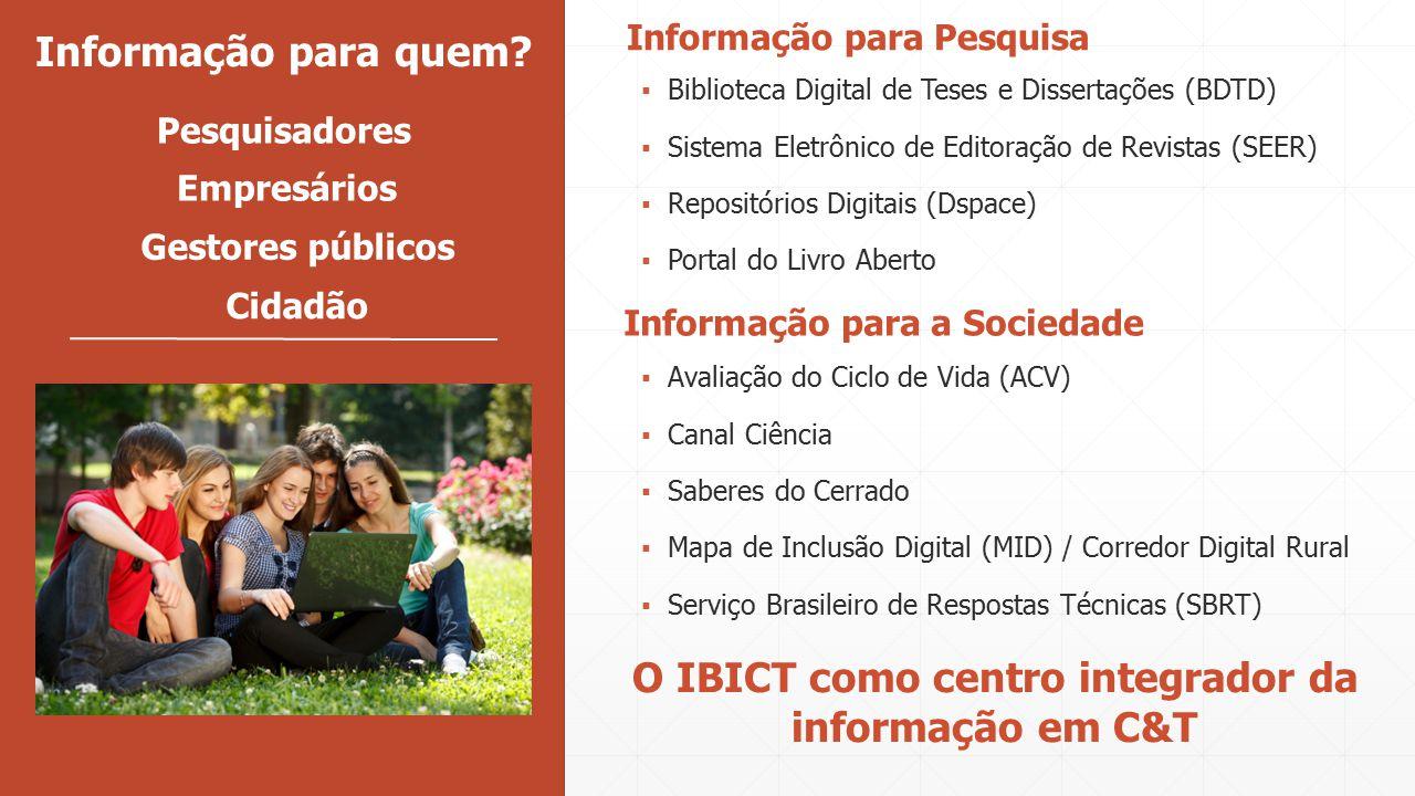 O IBICT como centro integrador da informação em C&T