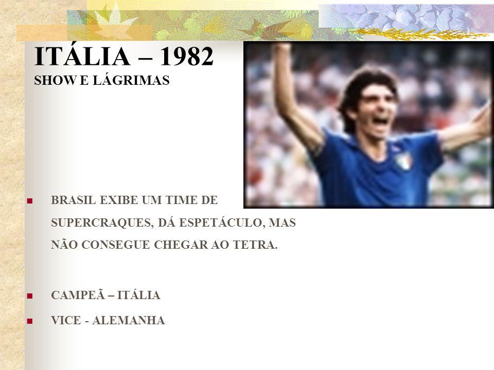 ITÁLIA – 1982 SHOW E LÁGRIMAS