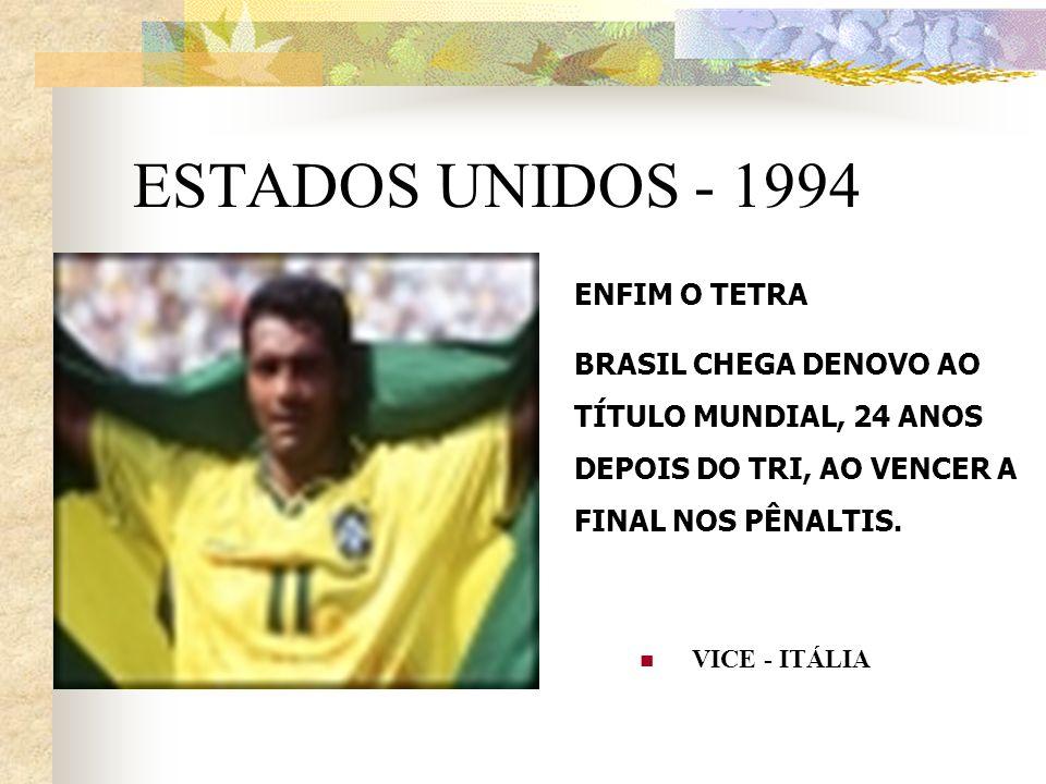 ESTADOS UNIDOS - 1994 ENFIM O TETRA
