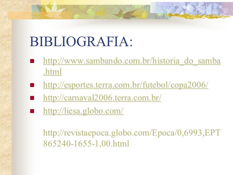 BIBLIOGRAFIA: http://www.sambando.com.br/historia_do_samba.html