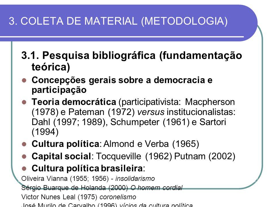 3. COLETA DE MATERIAL (METODOLOGIA)