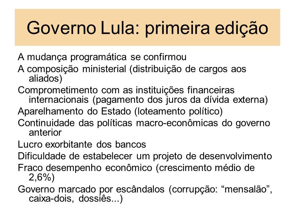 Governo Lula: primeira edição