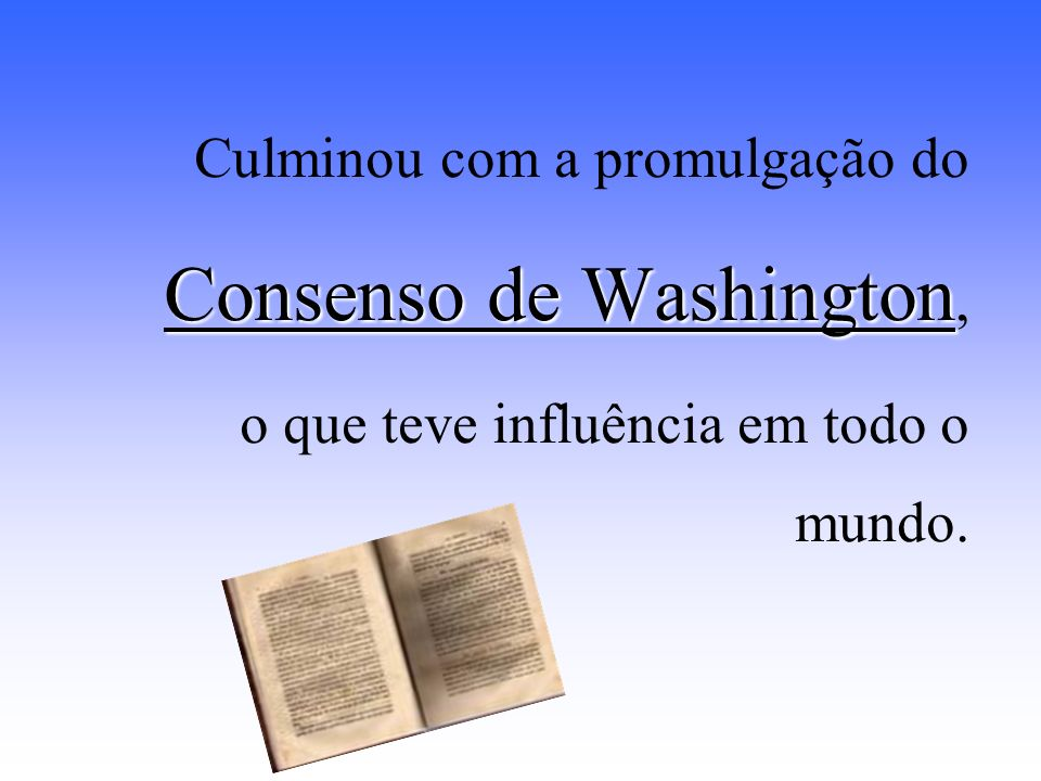 Consenso de Washington,