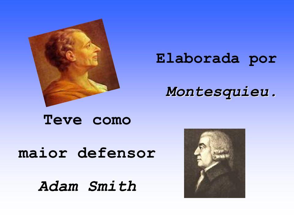 Elaborada por Montesquieu.