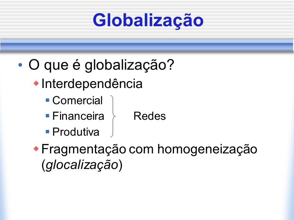 Globalização O que é globalização Interdependência