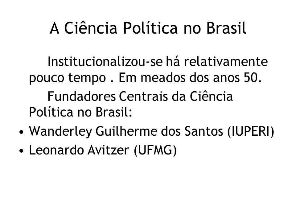 A Ciência Política no Brasil