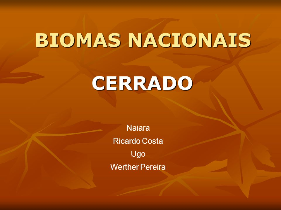 BIOMAS NACIONAIS CERRADO