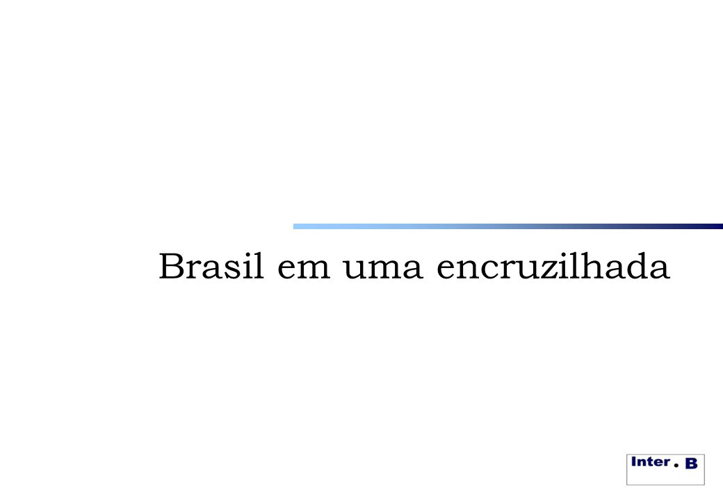 Brasil em uma encruzilhada