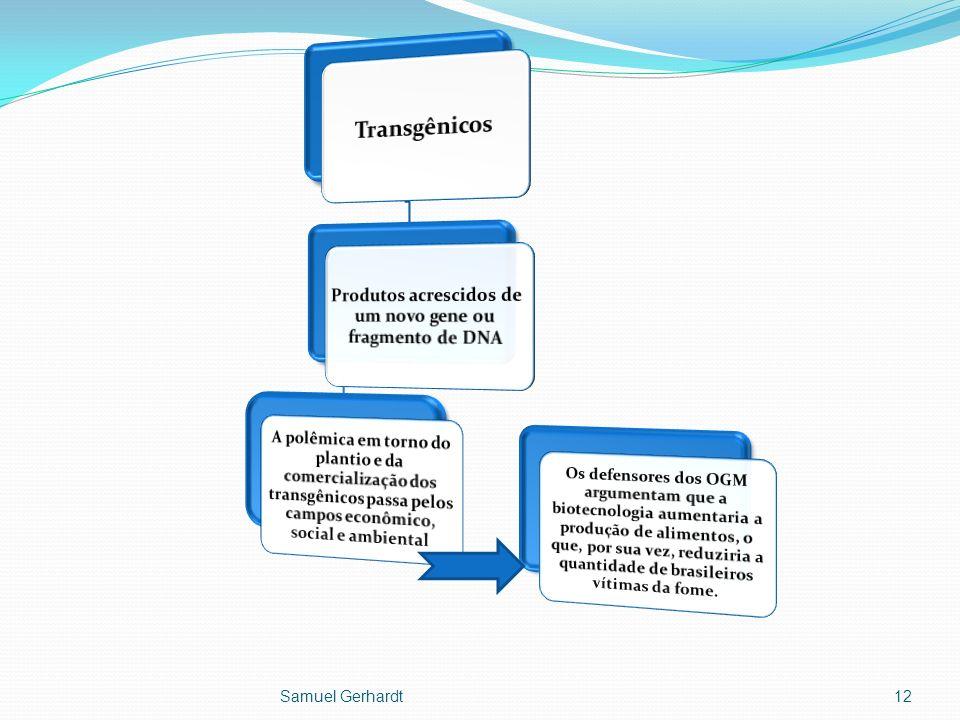 Produtos acrescidos de um novo gene ou fragmento de DNA