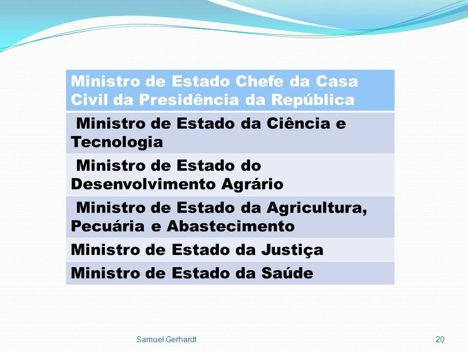 Ministro de Estado Chefe da Casa Civil da Presidência da República