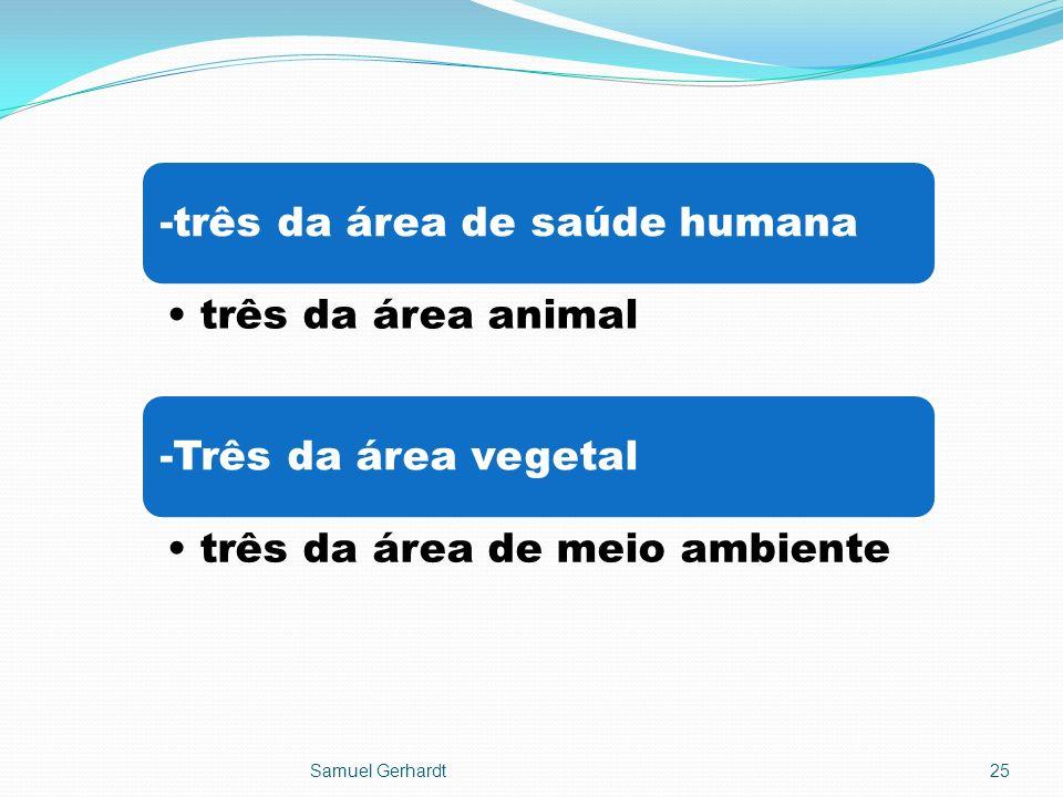 -três da área de saúde humana