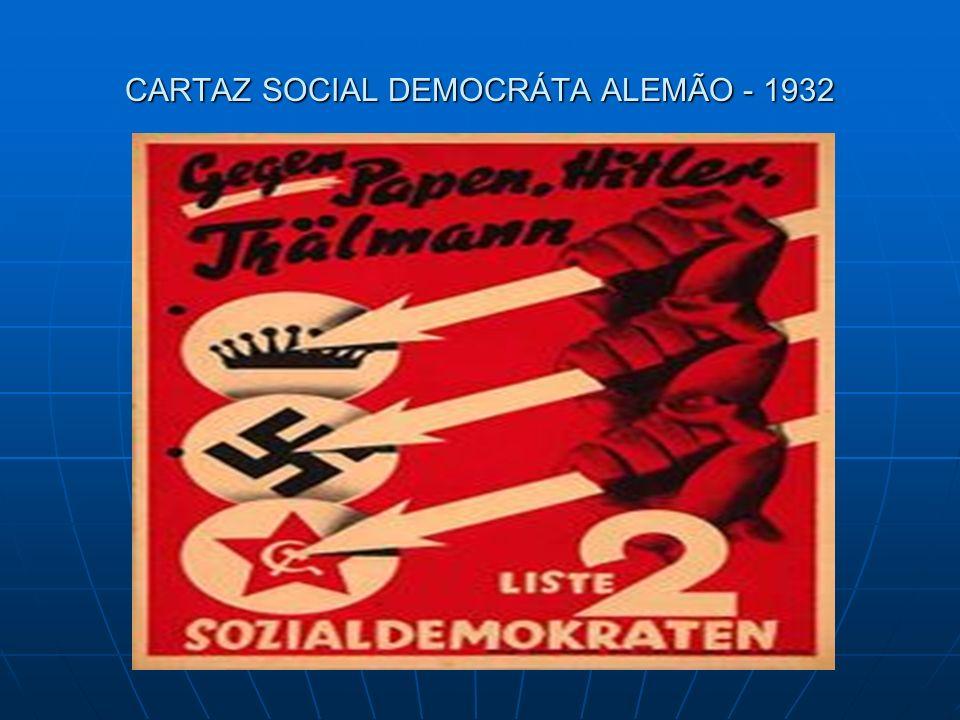 CARTAZ SOCIAL DEMOCRÁTA ALEMÃO - 1932