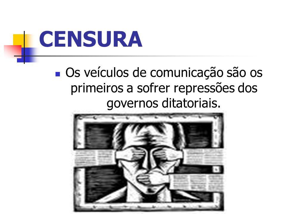 CENSURA Os veículos de comunicação são os primeiros a sofrer repressões dos governos ditatoriais.