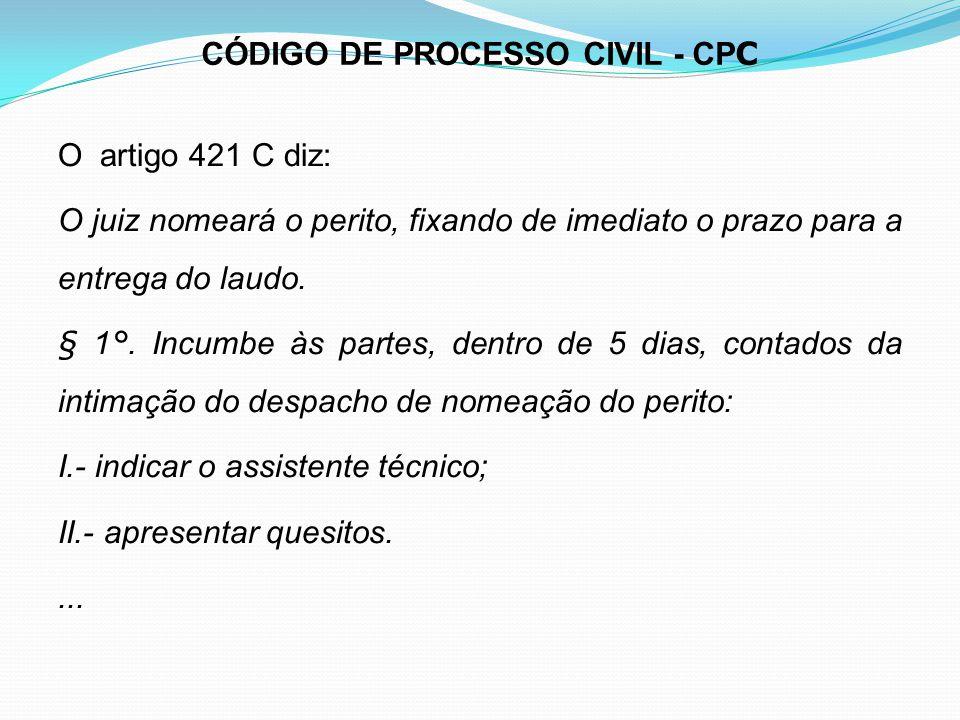 CÓDIGO DE PROCESSO CIVIL - CPC