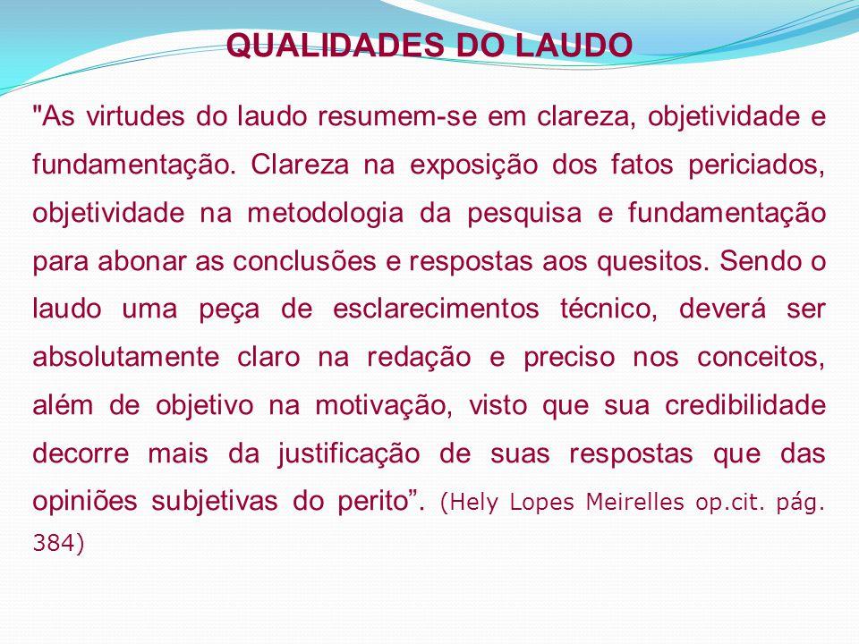 QUALIDADES DO LAUDO