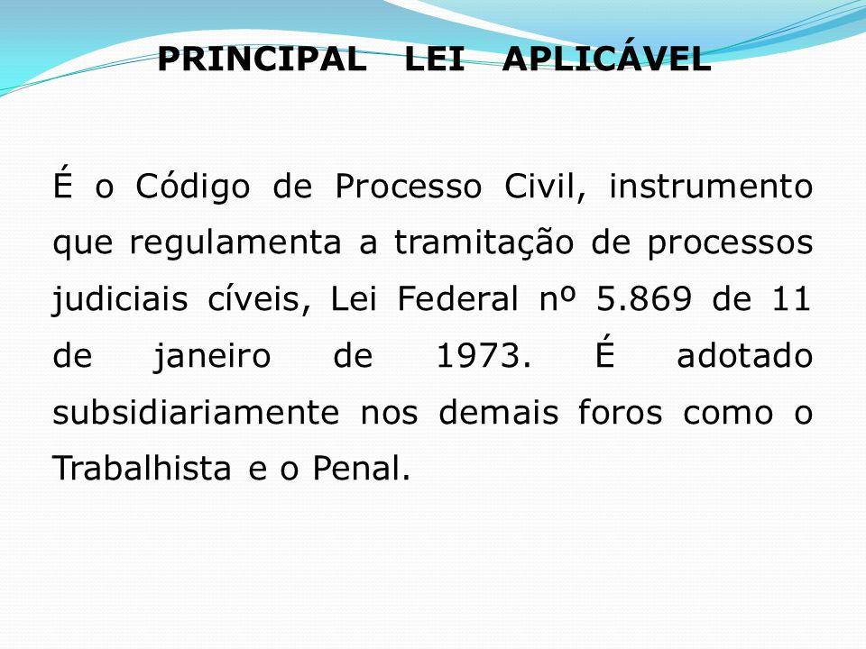 PRINCIPAL LEI APLICÁVEL