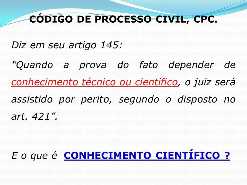 CÓDIGO DE PROCESSO CIVIL, CPC.