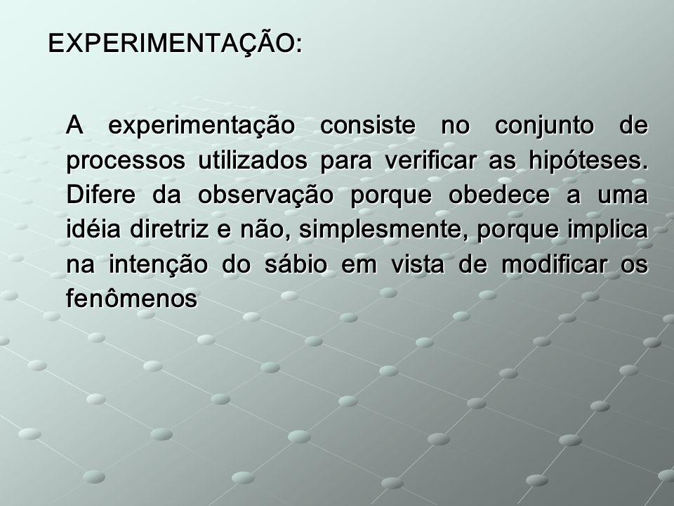 EXPERIMENTAÇÃO: