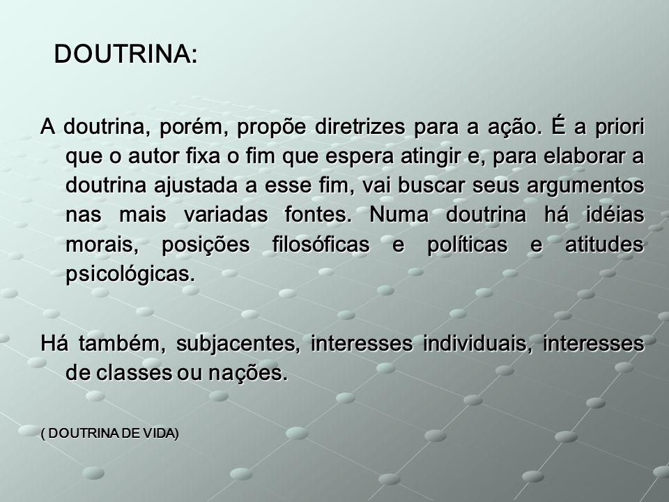 DOUTRINA: