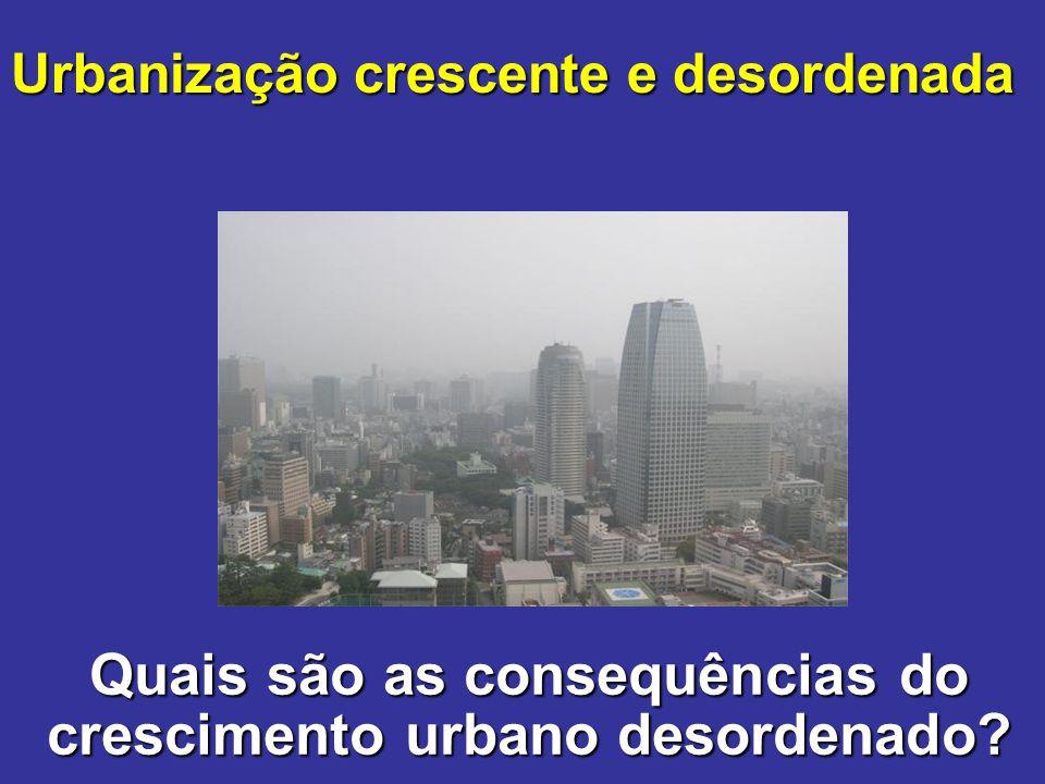 Quais são as consequências do crescimento urbano desordenado