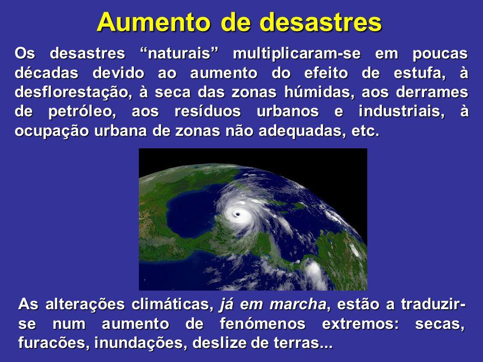 Aumento de desastres