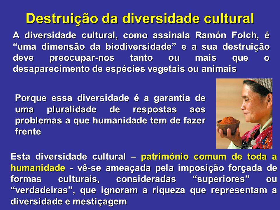 Destruição da diversidade cultural
