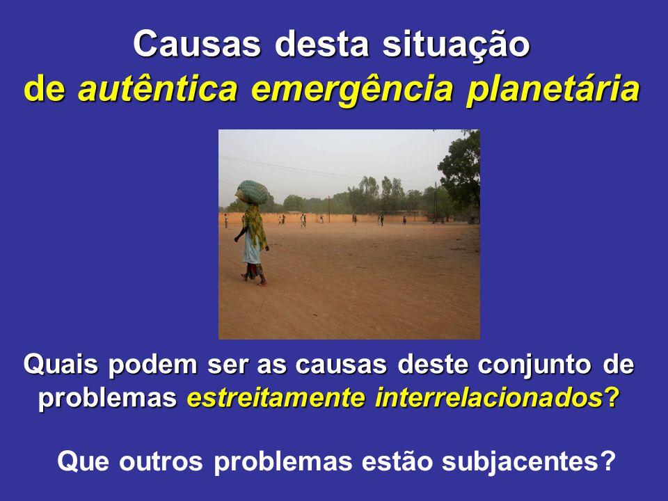 de autêntica emergência planetária