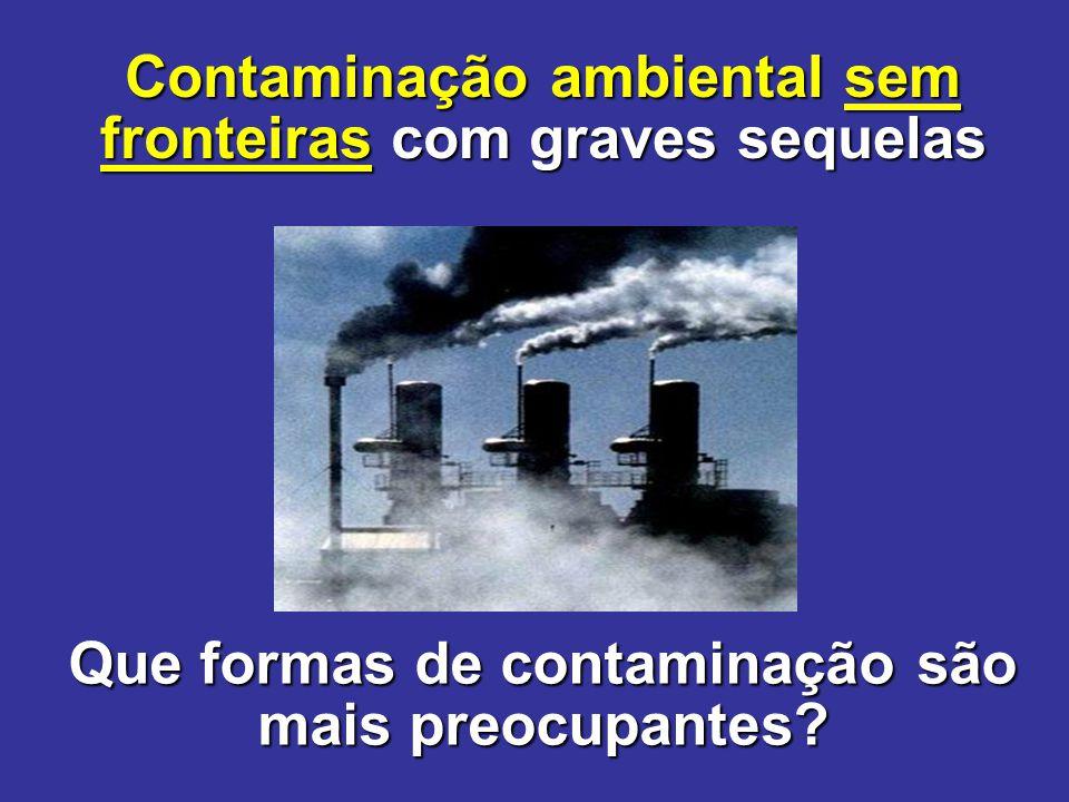 Contaminação ambiental sem fronteiras com graves sequelas