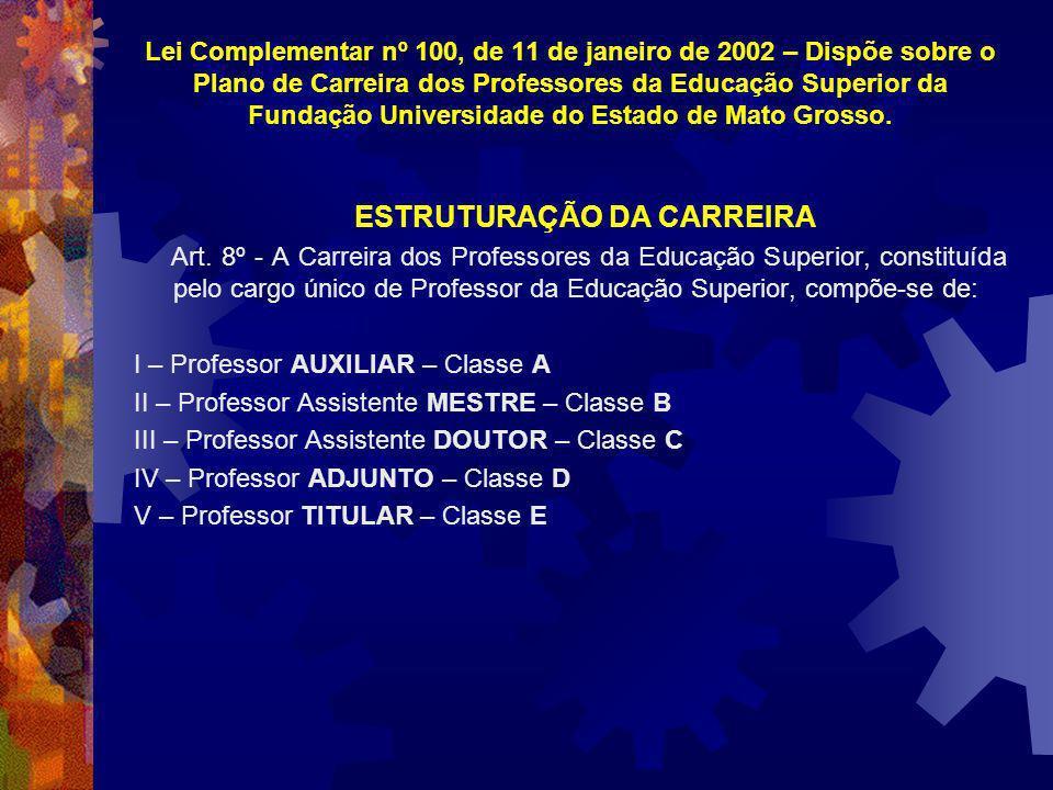 ESTRUTURAÇÃO DA CARREIRA