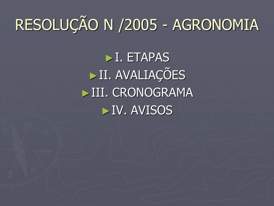 RESOLUÇÃO N /2005 - AGRONOMIA