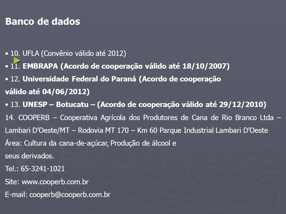 Banco de dados • 10. UFLA (Convênio válido até 2012)