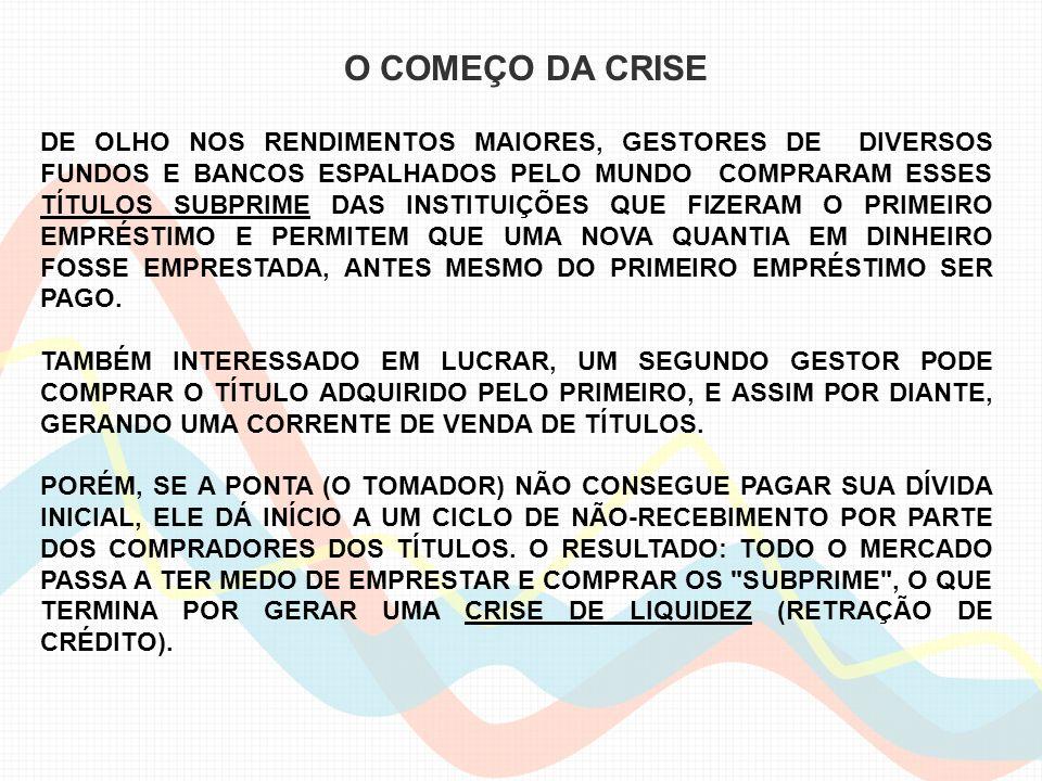 O COMEÇO DA CRISE