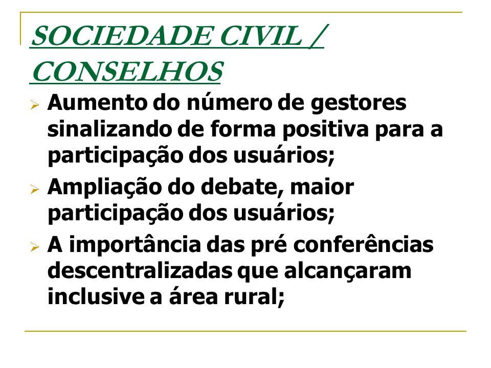 SOCIEDADE CIVIL / CONSELHOS