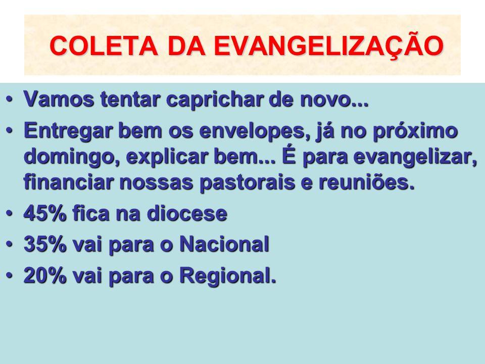 COLETA DA EVANGELIZAÇÃO