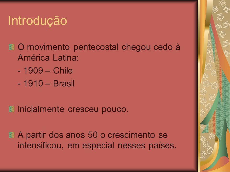 Introdução O movimento pentecostal chegou cedo à América Latina: