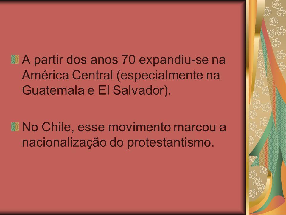A partir dos anos 70 expandiu-se na América Central (especialmente na Guatemala e El Salvador).