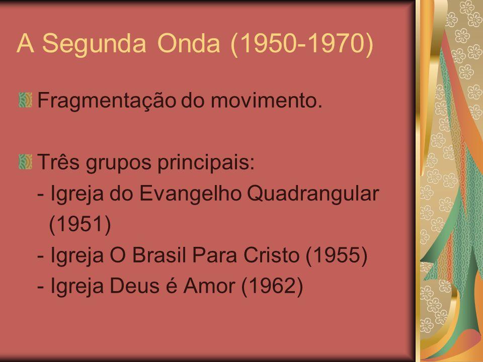 A Segunda Onda (1950-1970) Fragmentação do movimento.