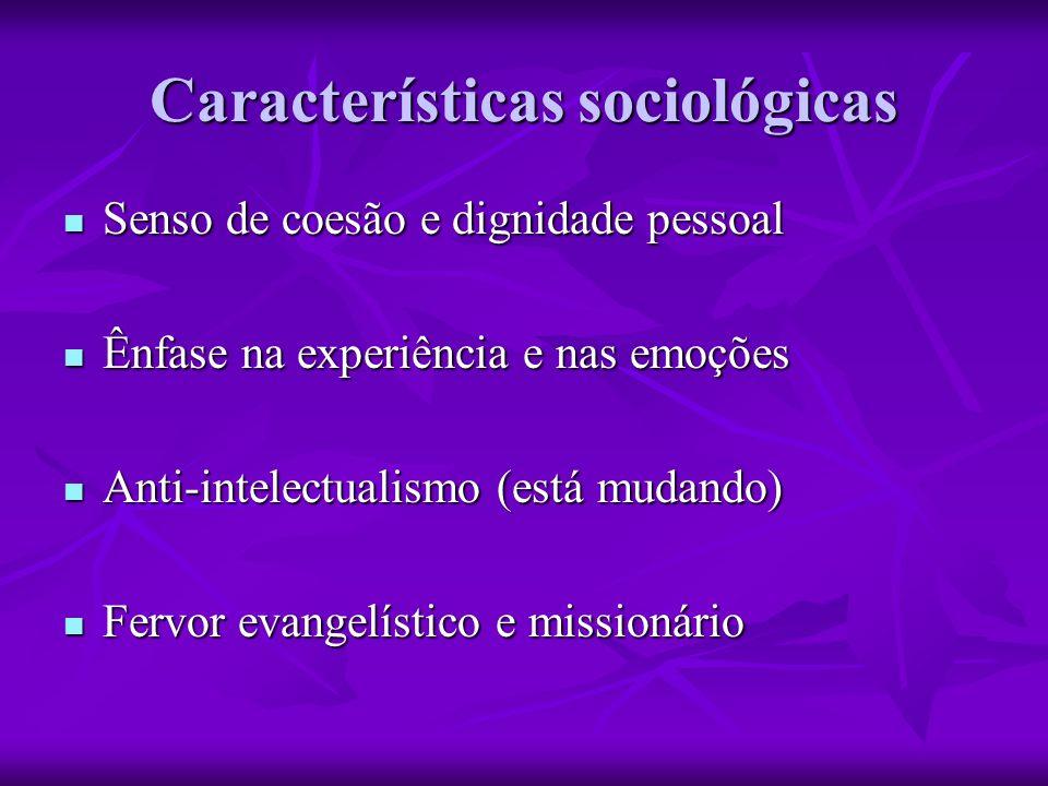 Características sociológicas