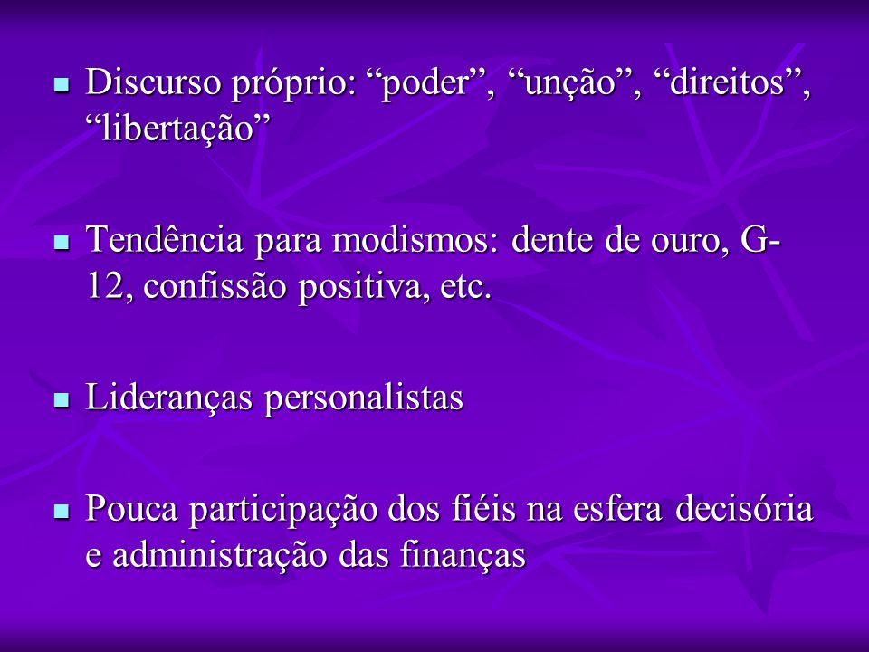 Discurso próprio: poder , unção , direitos , libertação