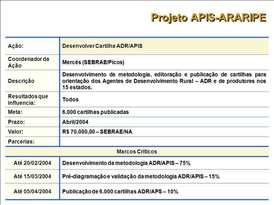 Projeto APIS-ARARIPE Ação: Desenvolver Cartilha ADR/APIS