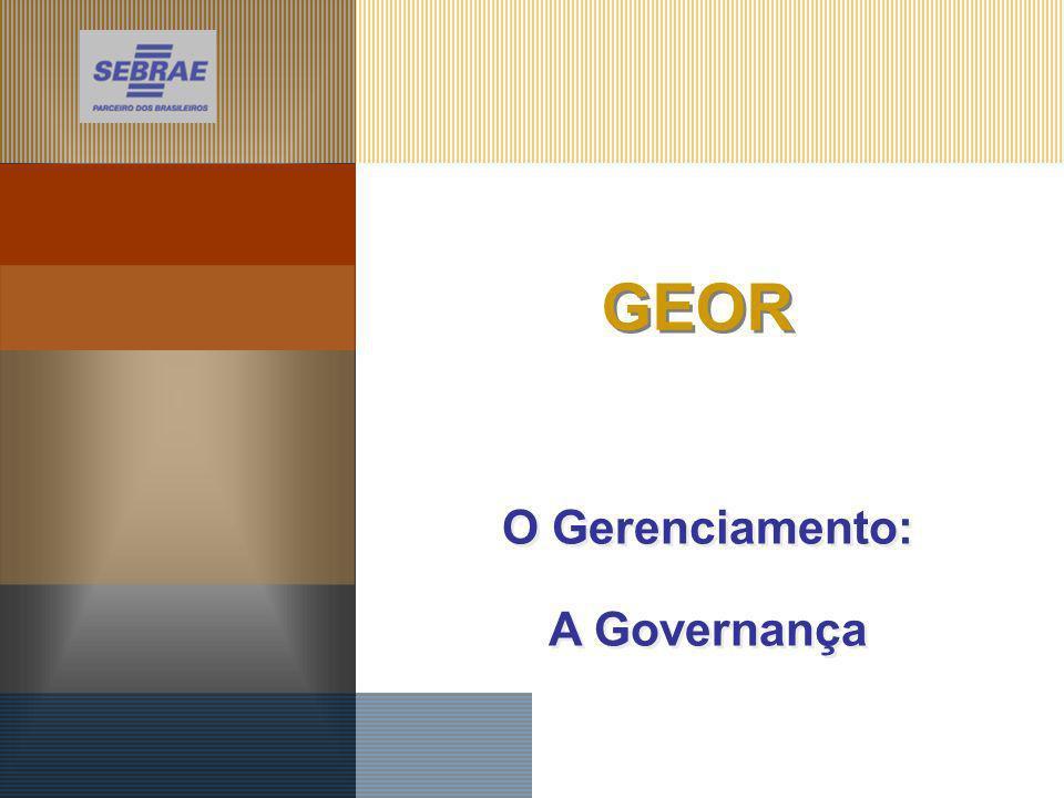 GEOR O Gerenciamento: A Governança