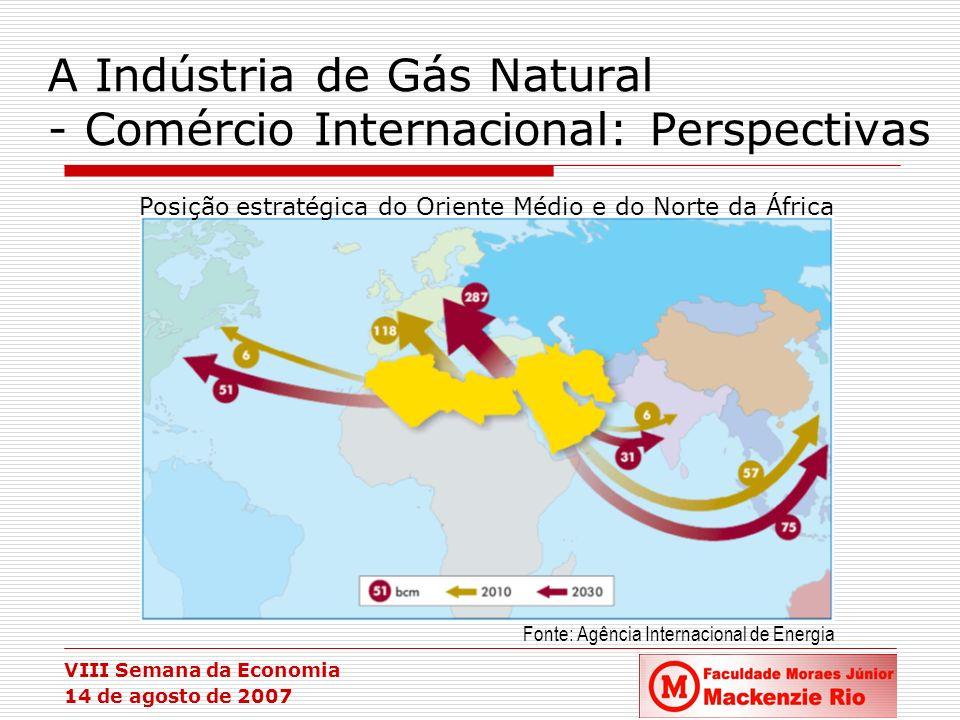 A Indústria de Gás Natural - Comércio Internacional: Perspectivas