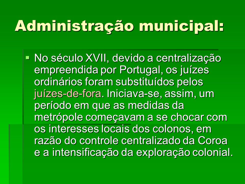 Administração municipal:
