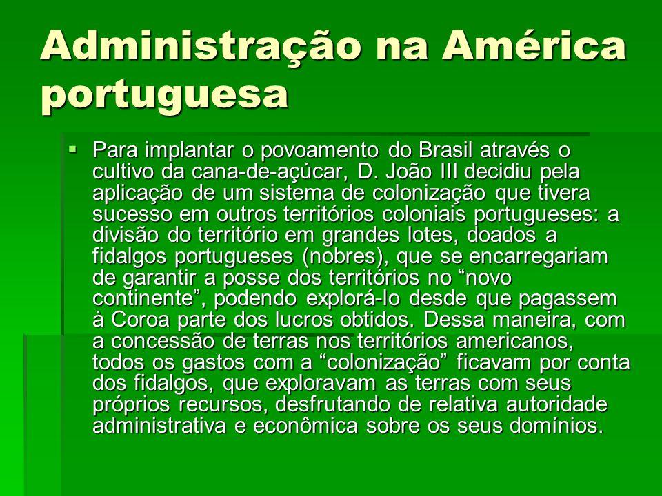 Administração na América portuguesa