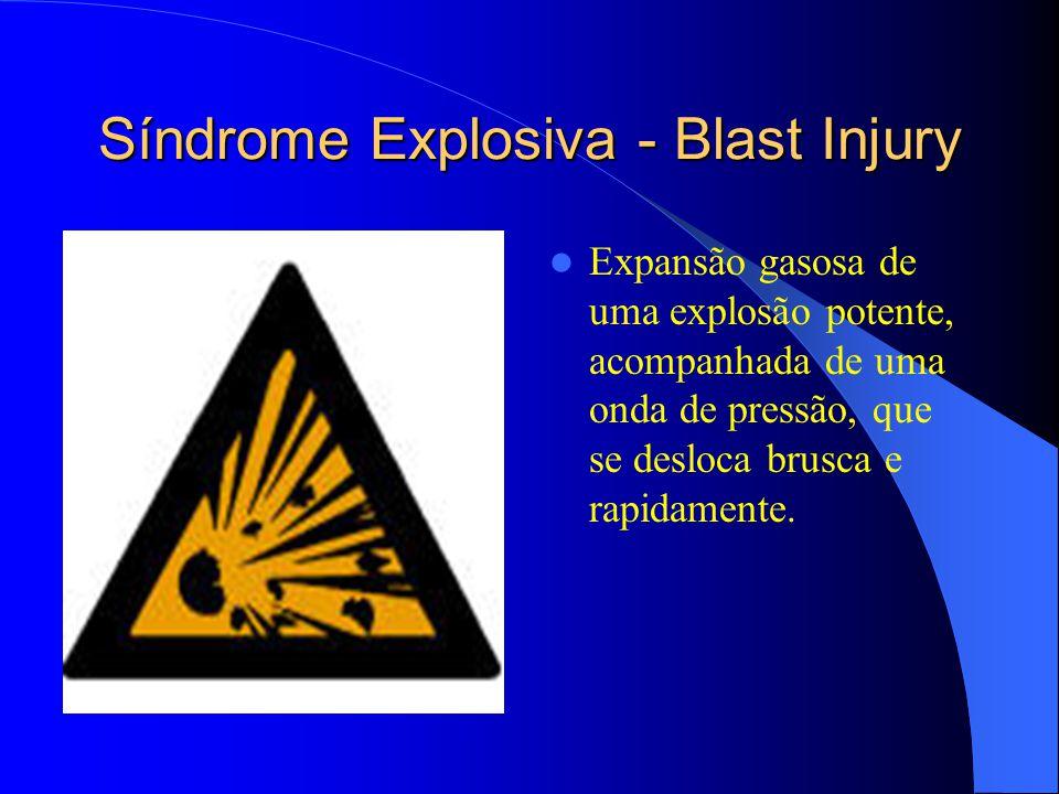 Síndrome Explosiva - Blast Injury